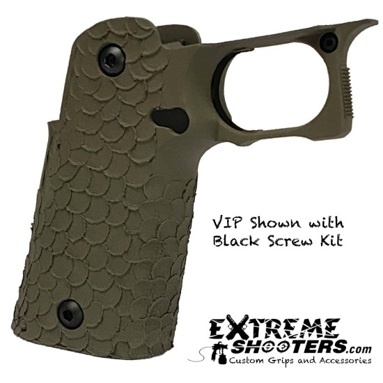 STI 2011 DVC/Dragon Scales Stipple VIP/DVC-C OD-Green Grip 120mm