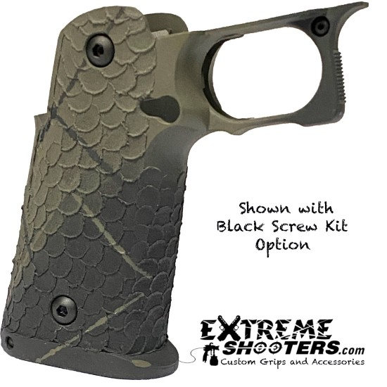 STI 2011 DVC/Dragon Scales OD Green/Black Grip